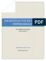 700 Revistas Top en Ciencias Empresariales