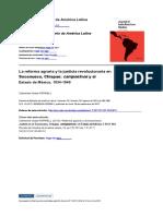 la reforma agraria y justicia revolucionaria, Chiapas 1934 - 1940