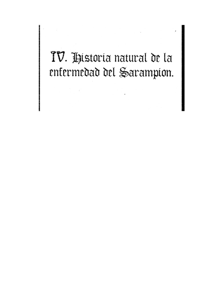 Historia Natural De La Enfermedad De Sarampion