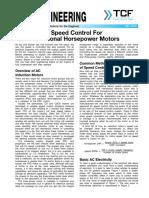 Speed Control for Fractional Horsepower Motors FE 1000