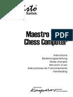 Manuale Mephisto Maestro