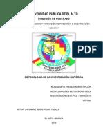 Monografia Metodologia de La Investigacion Historica - Jhosmane Jesus Rojas Padilla