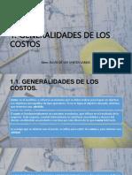 Generalidades de Los Costos