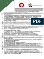 Liste PFE - Plus de 500 Sujets Licence + Master