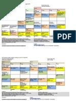 Zeitplan Schedule OA 2019 Okt.18