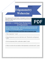 trigonometry webercise pdf