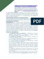 Funções Administrativas-Processo Administrativo