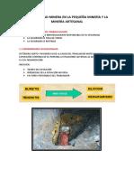La Seguridad Minera en La Pequeña Minería y La Minería Artesanal Informee