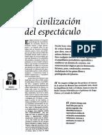 2 La Civilización Del Espectáculo. Vargas Llosa