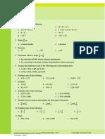 linear algebra pre-test copy