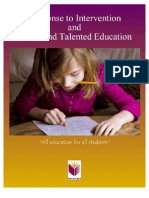RTI Gifted Talented