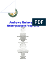 Andrews University Qualifying Graduate and Undergraduate Programs