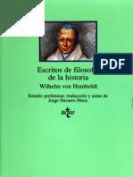 Von Humboldt, Wilhelm. - Escritos de Filosofia de La Historia [1997]