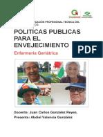 Politicas Publicas Para El Envejecimiento