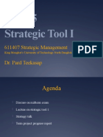 SM Wk 5 - Strategic Tools I