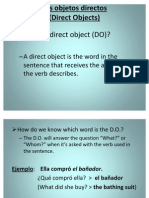 Direct Object Pronoun Notes