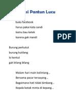 Kompilasi Pantun Lucu.docx