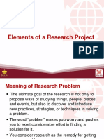 Elements of Research Project