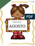 Planeacion de Preescolar Argumentada Agosto 1ºy 2º Grado 2016 17