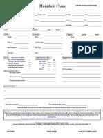 Lift Plan Request Form