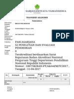 Transkrip Mahasiswa