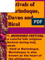 Festivals of Marinduque Davao and Bicol