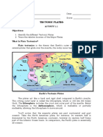 Activity Sheet / Module in Plate Tectonics