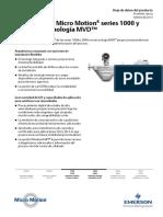 Transmisores Micro Motion Series 1000 y 2000 Con Tecnología MVD :v