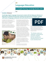 181094 Malaysia Supporting Improvements in English Teaching Cambridge Baseline 2013