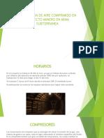 Maquinaria de Aire Comprimido en Proyecto Minero