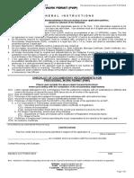 Provisional Work Permit