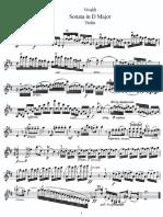 Vivaldi violin sonata in d major