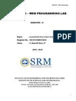 15IT304J Lab Record