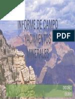 informe salida de campo yacimientos minerales