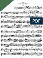 tartini sonata in d major