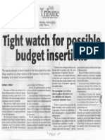 Daily Tribune, mar. 4, 2019, Tight watch for possible budget insertions.pdf