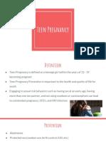 Teen Pregnancy Community Teaching PowerPoint