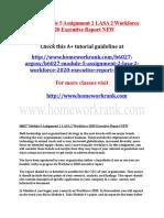 B6027 Module 5 Assignment 2 LASA 2 Workforce 2020 Executive Report NEW