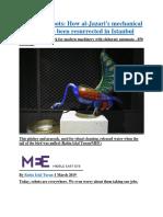 Medieval robots How al-Jazari's mechanical marvels have been resurrected in Istanbul.docx