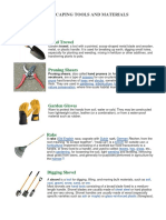 Landscaping Tools and Materials