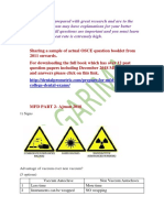 MFD OSCE Sample Papers With Link to Full Version