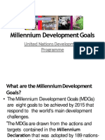 Millennium Development Goals 3RD Q