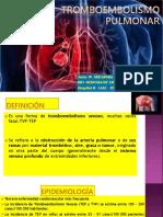 Tromboembolismo PULMONAR CX CV