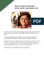 Palabras Pregonera Mª Auxi 2019 Dori Marquez