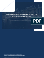 Recommendations on the Future of EU-Australia Relations