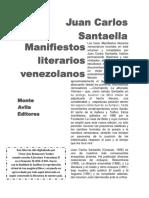 Manifiestos Literarios Venezolanos (Juan Carlos Santaella).