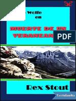 Muerte de Un Veraneante - Rex Stout