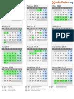 Kalender 2018 Bremen Hoch