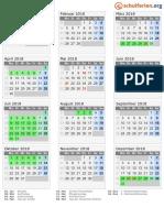 Kalender 2018 Hessen Hoch