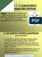 Partie 1 chap 2 organisation électronique des atomes